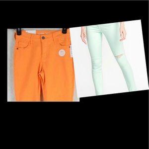 2 for 25! Lot old navy rockstar jeans pop colors
